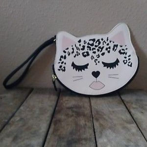Betsey Leopard Kitty Coin Purse